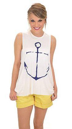 Drop Your Anchor Tank :: NEW ARRIVALS :: The Blue Door Boutique