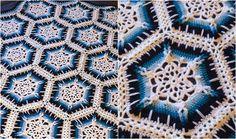 Winter Blizzard Snowflake Crochet Afghan: free pattern + video tutorial.