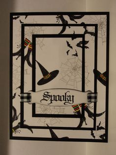 "There is something awesome about these triple layer cards!! This one is ""Spooky""!!!!"