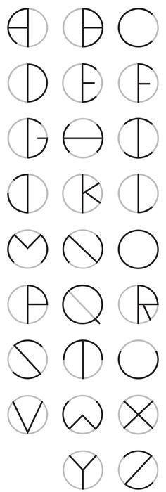 Circle Typeface by Oscar Lopes, via Behance - lettering, alphabet, letters, writing Alphabet Code, Alphabet Letters, Alphabet Fonts, Spanish Alphabet, Letter Tracing, Preschool Alphabet, Alphabet Crafts, Schrift Design, Web Design