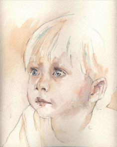 Image result for watercolor paintings of children