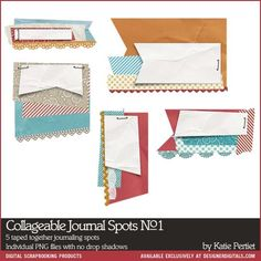 Collageable Journal Spots No. 01 - digital