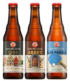 New Belgium Brewing Bottles