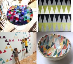 This triangle wall could make for a fun paint DIY.