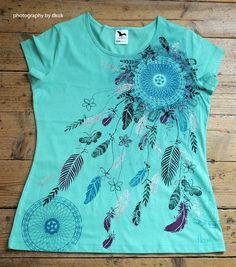 Ručně malované tričko od paní Dagmar Kukučkové. Textiles, Tie Dye, Tops, Women, Fashion, T Shirts, Moda, Fashion Styles, Fabrics