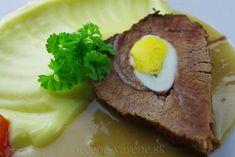 Hovädzie plnené vajíčkom Ale, Steak, Food, Ale Beer, Essen, Steaks, Meals, Yemek, Eten