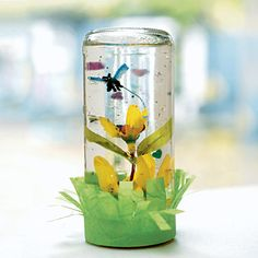 A twist on snow globes - this one has a spring theme