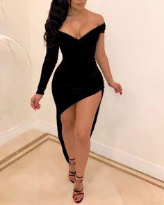 Mini black dress - Off Shoulder Asymmetrical Party Dress,homecoming – Mini black dress Trend Fashion, Fashion Outfits, Cheap Fashion, Women's Fashion, Fashion Stores, Woman Outfits, Fashion Today, Fashion Clothes, Fashion Boots