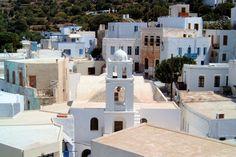 Les façades immaculées de la ville de Kos,  Nysiros en Grèce.  Fait !