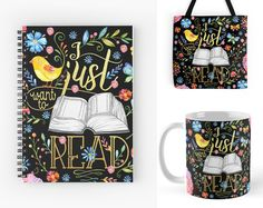With Love for Books: I Just Want to Read Notebook, Mug & Tote Bag Givea...