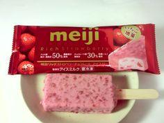 Strawberry chocolate ice cream bar, Meiji