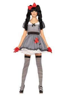 Womens Wind Up Broken Doll Halloween Horror Fancy Dress Costume Creepy Doll Halloween Costume, Wind Up Doll Costume, Costume Dress, Cool Costumes, Adult Costumes, Costumes For Women, Adult Halloween, Cosplay Costumes, Traje Casual