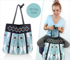 Large Embroidered Teardrop Tote | Sew4Home