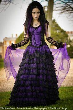 Model: Ella Amethyst Dress: Sinister - Necklace: Alchemy Gothic photo: Manish Sharma Photography. For: The Gothic Shop - www.the-gothic-shop.co.uk Welcome to Gothic and Amazing...