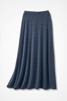 Sweep-n-Swirl Knit Maxi Skirt - Coldwater Creek Heathers navy $100