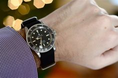 "Vintage. A 1972 Rolex Submariner 5512 ""Steve McQueen"" On BlackNATO"