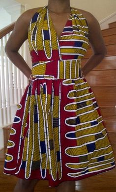 African Print Halter Neck Dress #Africanfashion #AfricanClothing #Africanprints #Ethnicprints #Africangirls #africanTradition #BeautifulAfricanGirls #AfricanStyle #AfricanBeads #Gele #Kente #Ankara #Nigerianfashion #Ghanaianfashion #Kenyanfashion #Burundifashion #senegalesefashion #Swahilifashion DK