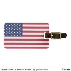 Personalized Luggage Tags, Custom Luggage Tags, Leather Luggage Tags, Luggage Bags, Cool American Flag, American War, Flag Tag, Striped Bags, National Flag