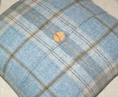 Your place to buy and sell all things handmade Ticking Stripe, Striped Linen, Throw Pillow Covers, Throw Pillows, Wool Fabric, Learn To Sew, Tartan Plaid, Natural Linen, Tweed