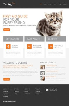 Drupal #template // Regular price: $75 // Unique price: $4500 // Sources available: .PSD, .PHP  #Drupal #Animals #Pets #Cat #FirstAid