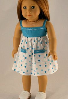 American Girl Doll Clothes  Polka Dot Dress by Forever18Inches~I think that I will now turn to doll clothing for my future outfit creations