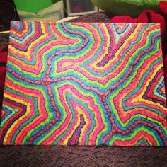 Melted crayon art!