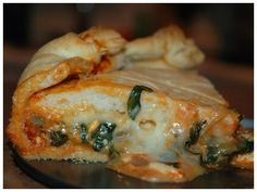 Caramelized Onion & Spinach Pizza Pie ~ Health tips
