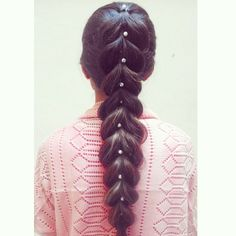 French pull through braid with pearls