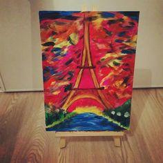 Paris - peinture acrylique sur toile