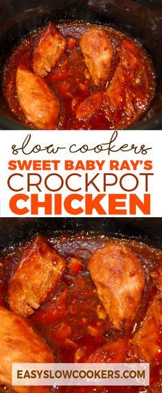 Sweet Baby Ray's Crockpot Chicken
