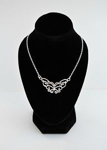 UK-Fashion-Sterling-Silver-Necklace-Pendant-Butterfly-18-inches