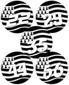 Badges, Insignes, Mascottes Automobilia Dynamic 44 Loire Atlantique Breizh Departement Immatriculation 2 X Autocollants Sticker