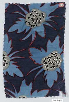 "The Metropolitan Museum of Art - ""Indigo"" Textile Sample Maria Brunner 1917"