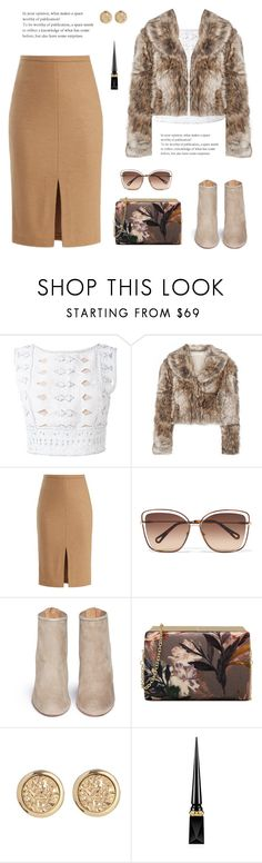 """FL01 (01/10/2017)"" by ansadesigns ❤ liked on Polyvore featuring Alberta Ferretti, STELLA McCARTNEY, MaxMara, Chloé, Aquazzura, Nine West and Christian Louboutin"
