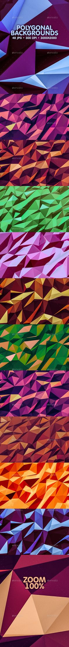 Polygonal Backgrounds - #Backgrounds Graphics Download here: https://graphicriver.net/item/polygonal-backgrounds/20218157?ref=alena994