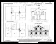This is the original drawing of our house from 1892. The ground floor plan is at the bottom of the image, and the kitchen in the upper left corner, which is the first room we starting out with.