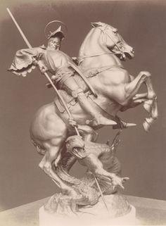George Slaying the Dragon Horse Sculpture, Animal Sculptures, Saint George And The Dragon, Peter Paul Rubens, Fun Illustration, Dragon Slayer, Medieval Art, St Michael, Horse Art