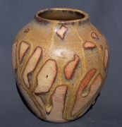Caramel Drizzle Wheel Thrown Pot, Stoneware.  Private Collection