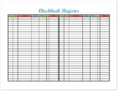 checkbook register freebie printable top organizing bloggers