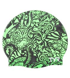 TYR Dragon Days Graphic Silicone Swim Cap at SwimOutlet.com - The Web's most popular swim shop