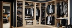 Contemporary Romano Maple Dressing Room by Strachan