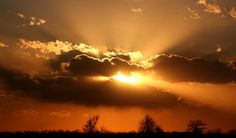 Fantastic view of Sunshine Rays coming out from Cloud