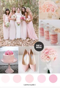 Pink Wedding Color Schemes http://www.fabmood.com/pink-wedding-color-schemes/
