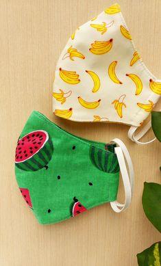 Easy Face Masks, Diy Face Mask, Watermelon Face Mask, 3d Face, Pocket Pattern, Free Pattern, Diy Mask, Fashion Face Mask, Go Shopping