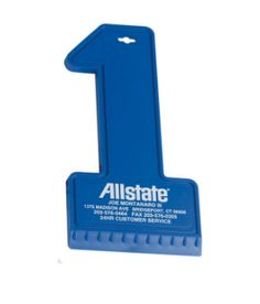 """Classic #1 shape ice scraper. Budget priced for giveaways.  6 1/2"""" L x 3 1/8"""" W Colors: Eco Dark Green, Blue, White"""