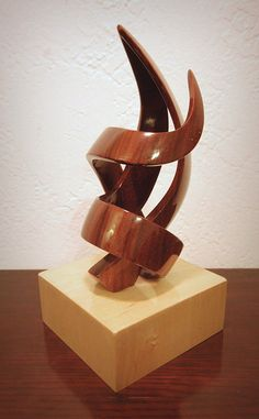 Abstract Sculpture by sawdustandstuff on Etsy Sculpture Images, Abstract Sculpture, Wood Sculpture, Abstract Art, Unicorn Gundam, Wooden Projects, Wood Turning, Wood Art, Carving