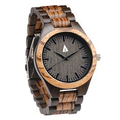 Tree Hut All Wood Watch   Zebrawood + Ebony 31 - would be awesome for someone special for Christmas!