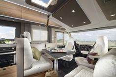 Freedom to express yourself. Motorhome Interior, Fiat Ducato, Caravan, Exterior Design, Layout, Group, Table, Furniture, Home Decor