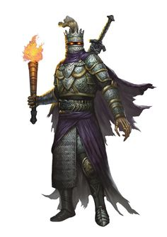 dungeons and dragons 5th edition monsters | Death Knight (from the fifth edition D&D Monster Manual). Art by ...