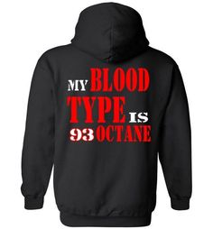 Blood Type biker Heavy Blend Hoodie